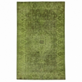 Vintage recoloured rug color green (168x278cm)