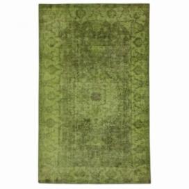 Vintage recoloured rug color green (168x278cm)