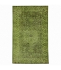 Vintage recoloured rug cor verde (168x278cm)