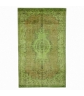 Vintage alfombra recolored color verde (157x261cm)