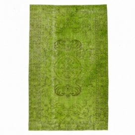 Vintage alfombra recolored color verde (162x258cm)