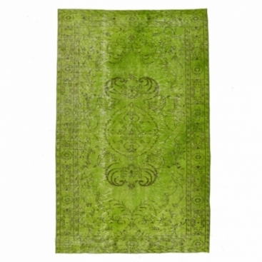 Vintage alfombra recolored color verde (162x258cm)