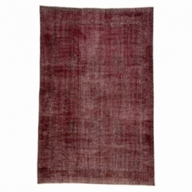 Vintage recoloured rug colore rosso (190x285cm)