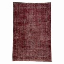 Vintage tapis recolorés couleur rouge (190x285cm)