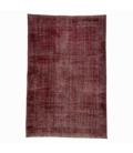 Vintage recoloured rug color red (190x285cm)