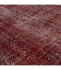 Vintage recoloured rug color red (190x285cm)