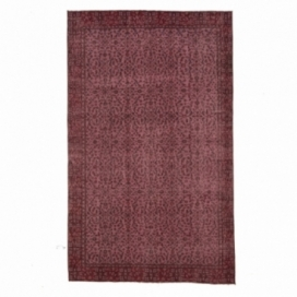 Vintage recoloured rug colore rosso (151x255cm)