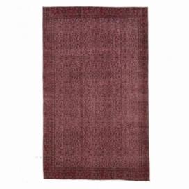 Vintage tapis recolorés couleur rouge (151x255cm)