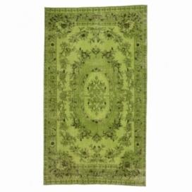 Vintage tapis recolorés couleur vert (155x270cm)