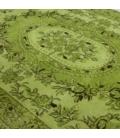 Vintage recoloured rug color green (155x270cm)