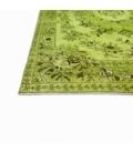 Vintage alfombra recolored color verde (155x270cm)