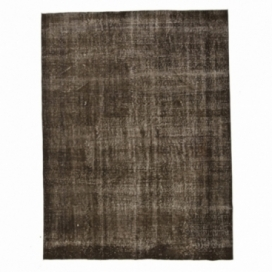 Vintage tapis recolorés couleur marron (195x257cm)
