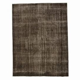 Vintage umgefärbt teppich farbe braun (195x257cm)