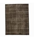 Vintage recoloured rug color brown (195x257cm)
