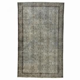 Vintage tapis recolorés couleur gris (169x280cm)