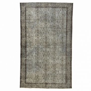 Vintage alfombra recolored color gris (169x280cm)