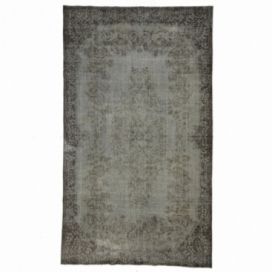 Vintage recoloured rug color gray (173x298cm)