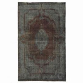 Vintage tapis recolorés couleur indigo (162x266cm)