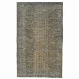 Vintage tapis recolorés couleur gris (175x289cm)