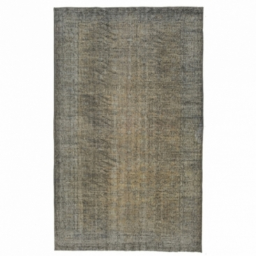 Vintage recoloured rug color gray (175x289cm)