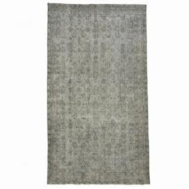 Vintage tapis recolorés couleur gris (164x290cm)