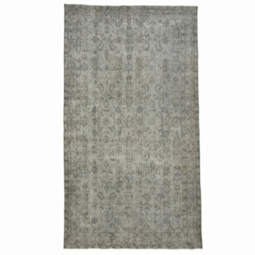 Vintage recoloured rug color gray (164x290cm)