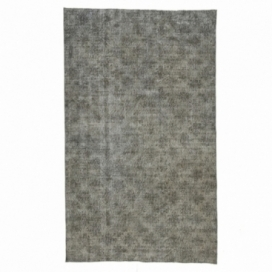 Vintage recoloured rug color gray (165x276cm)