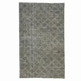 Vintage tapis recolorés couleur gris (165x276cm)