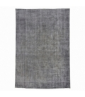 Vintage recoloured rug color gray (200x296cm)