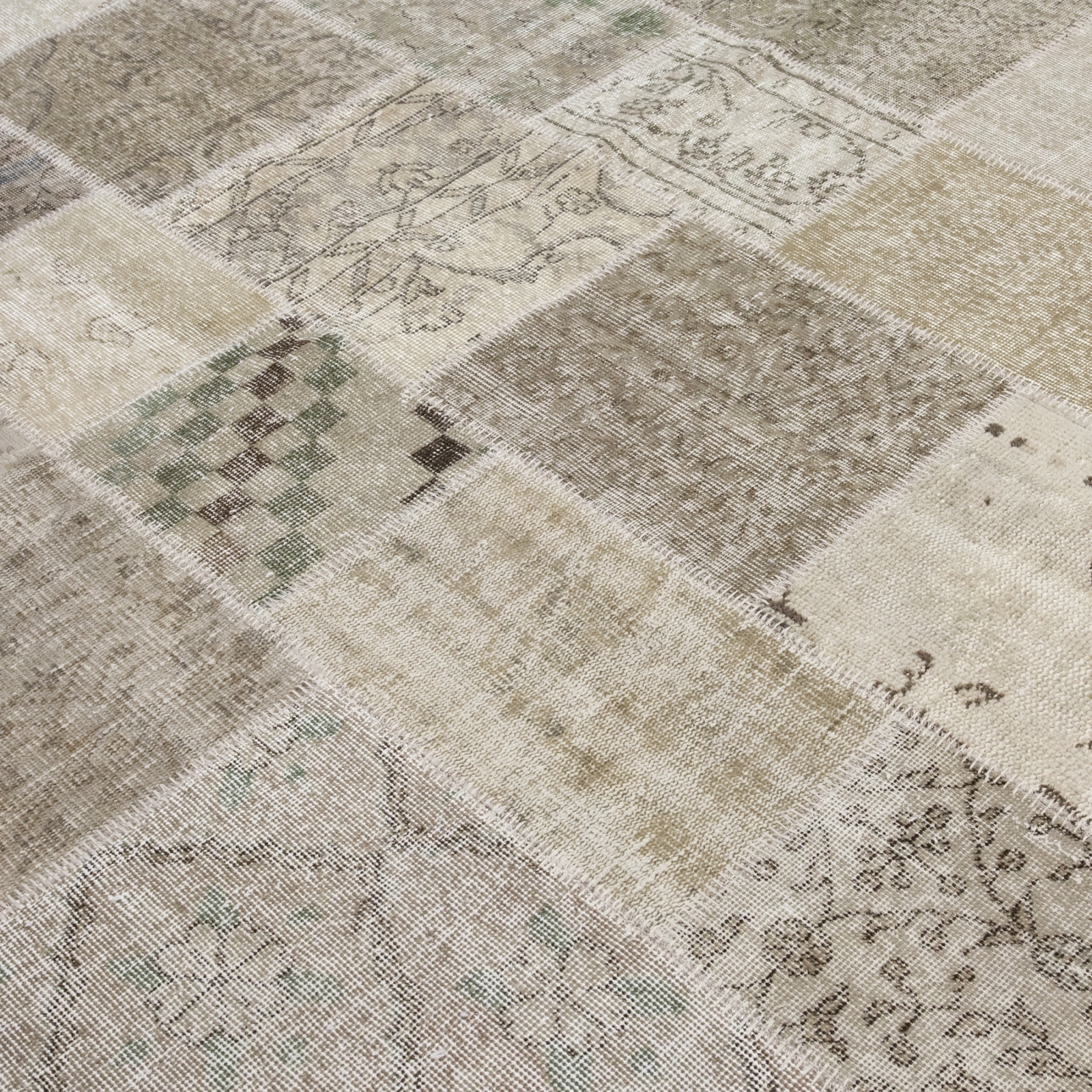 Beige white natural teinths vintage alfombra retazos 200x300cm - Alfombra beige ...