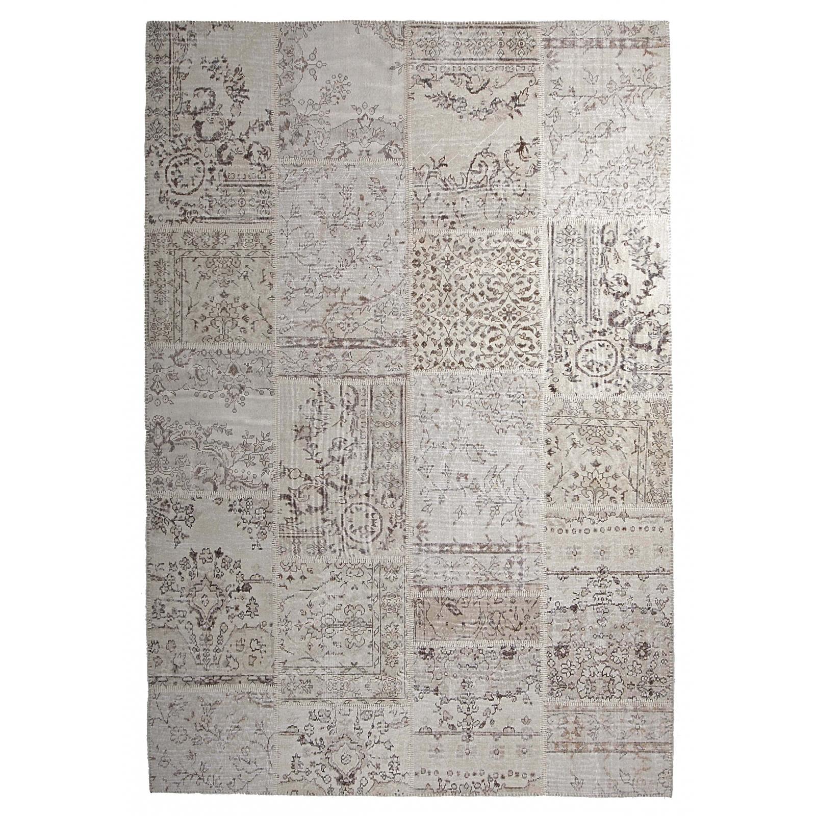 Beige/ white/ natural teinths vintage alfombra retazos ...