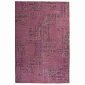 Vintage patchwork rug color pink (200x300cm)