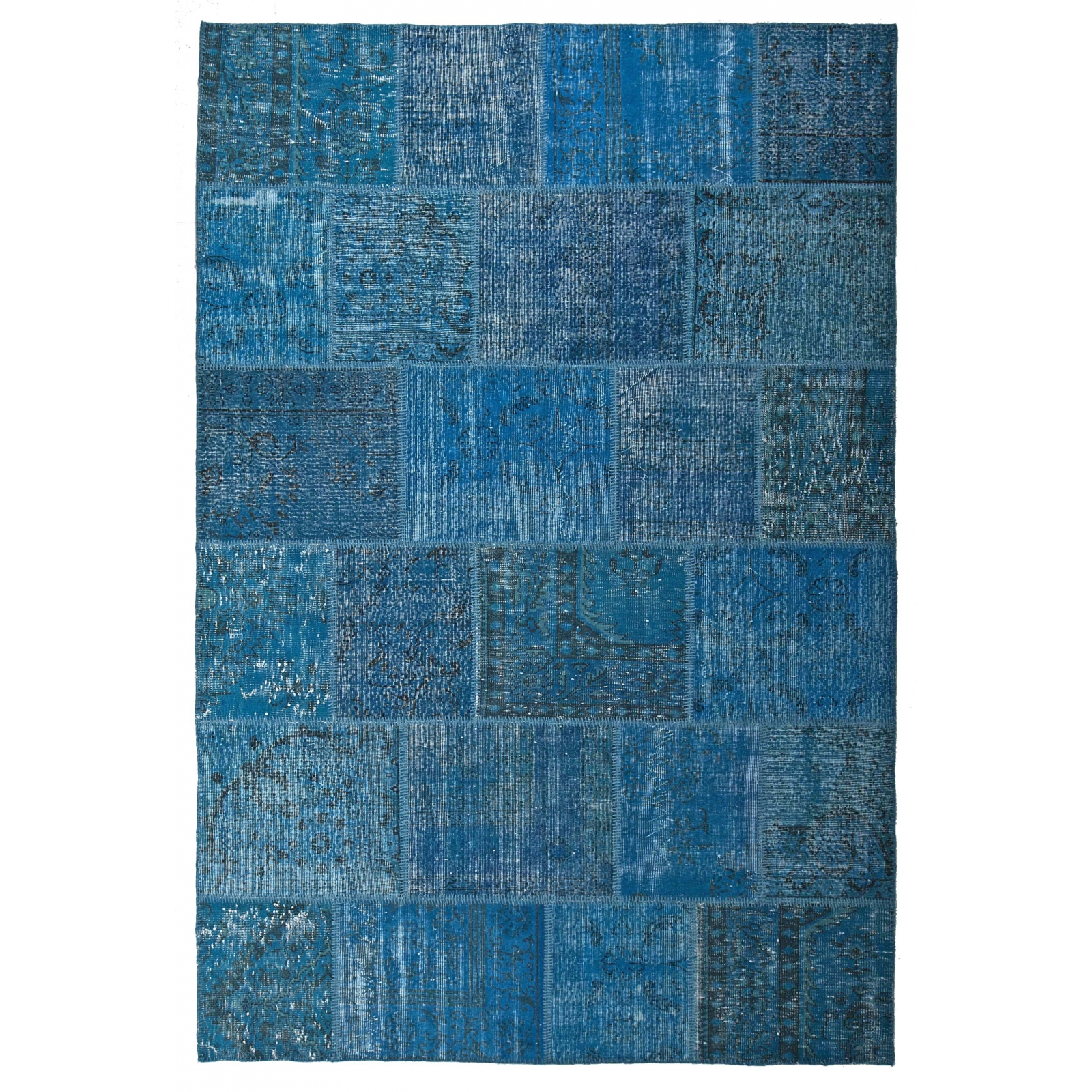 Blu Vintage Patchwork Rug 200x300cm