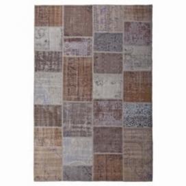 Vintage patchwork rug kleur bruin (200x300cm)