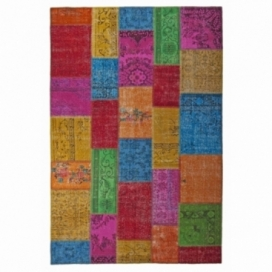 Vintage patchwork rug color multi colour (200x300cm)
