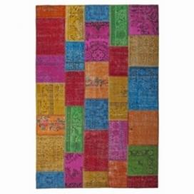 Vintage patchwork rug kleur multi colour (200x300cm)