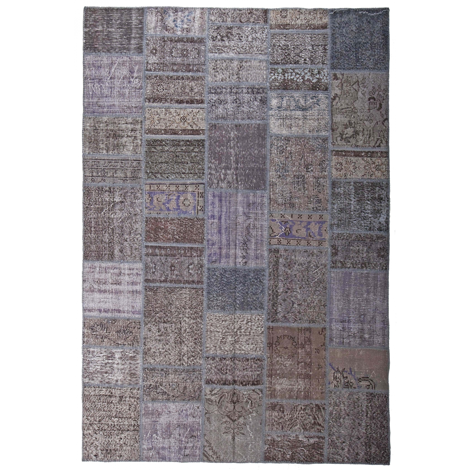 gris vintage tapis de patchwork 200x300cm. Black Bedroom Furniture Sets. Home Design Ideas