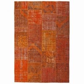 Vintage patchwork rug kleur oranje (200x300cm)