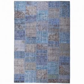 Vintage patchwork rug kleur blauw (200x300cm)