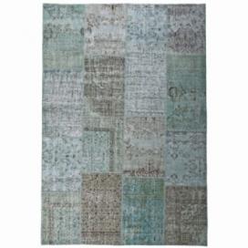 Vintage patchwork rug kleur turquoise (200x300cm)