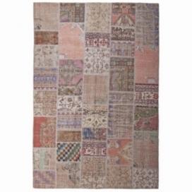 Vintage patchwork rug kleur antique (200x300cm)