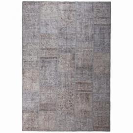 Vintage patchwork rug color grey (200x300cm)