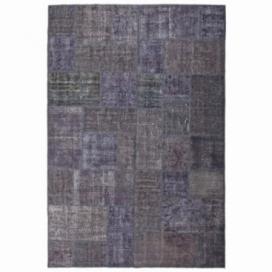 Vintage patchwork rug color black (200x300cm)