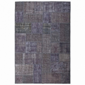 Vintage patchwork rug kleur black (200x300cm)