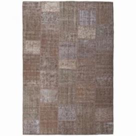 Vintage patchwork rug color brown (200x300cm)