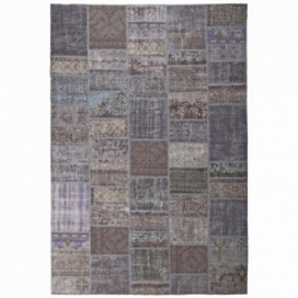 Vintage patchwork rug color dark grey (200x300cm)