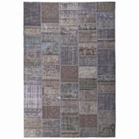 Vintage patchwork rug kleur dark grey (200x300cm)