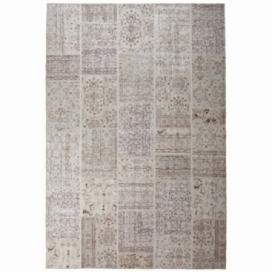 Vintage patchwork rug color beige (200x300cm)
