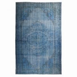Vintage umgefärbt teppich farbe blau (188x292cm)