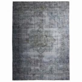 Vintage recoloured rug color grey (230x234cm)